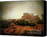 Indian Ruins Canvas Prints - Lomaki Pueblo Canvas Print by Arne Hansen