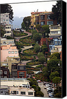 San Francisco Photo Canvas Prints - Lombard Street Canvas Print by David Salter