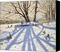 Christmas Cards Canvas Prints - Lomberdale Hall Derbyshire  Canvas Print by Andrew Macara
