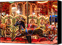 Merry-go-round Canvas Prints - London 106 Canvas Print by Lance Vaughn