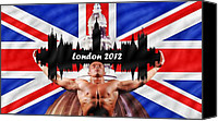 2012 Digital Art Canvas Prints - London 2012 Canvas Print by Sharon Lisa Clarke