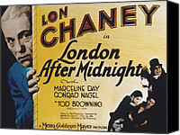 Horror Fantasy Movies Canvas Prints - London After Midnight, Lon Chaney, Sr Canvas Print by Everett