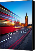 United Kingdom Canvas Prints - London Big Ben Canvas Print by Nina Papiorek