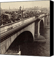 City Of Bridges Photo Canvas Prints - London Bridge - England - c 1896 Canvas Print by International  Images