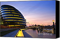 Skyline Canvas Prints - London city hall at night Canvas Print by Elena Elisseeva