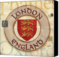 Travel Destination Canvas Prints - London Coat of Arms Canvas Print by Debbie DeWitt