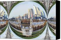 Naval College Canvas Prints - London Docklands bubble Canvas Print by Ruth Hallam