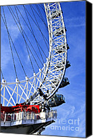 Tourist Attraction Canvas Prints - London Eye Canvas Print by Elena Elisseeva