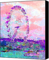 Marilyn Sholin Canvas Prints - London Eye Canvas Print by Marilyn Sholin