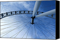 High Wheel Canvas Prints - London Eye Canvas Print by Melissa Petrey