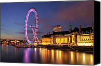 Waterfront Canvas Prints - London Eye Canvas Print by Stuart Stevenson photography