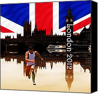 2012 Digital Art Canvas Prints - London Olympics 2012 Canvas Print by Sharon Lisa Clarke