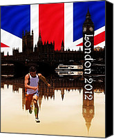 2012 Digital Art Canvas Prints - London Olympics Canvas Print by Sharon Lisa Clarke