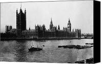River Transportation Canvas Prints - LONDON: PARLIAMENT, c1900 Canvas Print by Granger