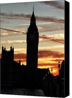On Fire Canvas Prints - London Sky on Fire Canvas Print by John Rizzuto