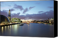 Hall Canvas Prints - London Skyline At Sunset Canvas Print by Richard Newstead