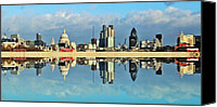 London Skyline Canvas Prints - London Skyline Canvas Print by Sharon Lisa Clarke