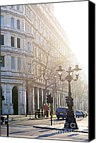 Lamppost Canvas Prints - London street Canvas Print by Elena Elisseeva