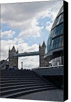 City Hall Canvas Prints - London Tower Bridge Canvas Print by Dawn OConnor