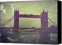 Old Town Digital Art Canvas Prints - London Tower Bridge Canvas Print by Irina  March
