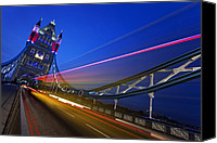 Olympic Canvas Prints - London Tower Bridge Canvas Print by Nina Papiorek