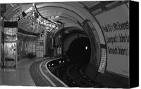 Subway Station Photo Canvas Prints - London Underground Canvas Print by Carmen Hooven