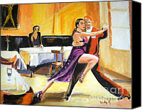 Tango Canvas Prints - Lone Audience Canvas Print by Judy Kay