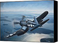 Warbird Canvas Prints - Lone Black Sheep Canvas Print by Peter Chilelli