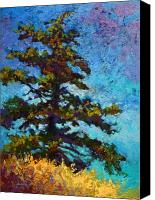 Fall Leaves Canvas Prints - Lone Pine II Canvas Print by Marion Rose
