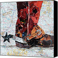 "\\\""texas Artist\\\\\\\"" Canvas Prints - Lone Star Spur Canvas Print by Suzy Pal Powell"