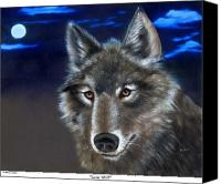 Rj Mcnall Canvas Prints - Lone Wolf Canvas Print by RJ McNall