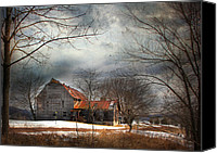 Pennsylvania Barns Canvas Prints - Long Ago Canvas Print by Lori Deiter