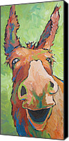 Donkey Painting Canvas Prints - Long Face Canvas Print by Sandy Tracey