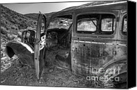 Rusted Cars Canvas Prints - Long Forgotten Canvas Print by Bob Christopher