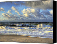 Long Island Canvas Prints - Long Island Beaches Rock Canvas Print by Vicki Jauron