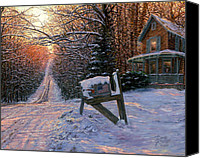 House Painting Canvas Prints - Long Way From Home Canvas Print by Doug Kreuger