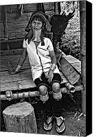 Oppression Canvas Prints - Longneck Beauty bw Canvas Print by Steve Harrington