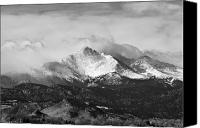 Buy Framed Prints Canvas Prints - Longs Peak and a Mean Storm Canvas Print by James Bo Insogna