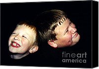 Giggling Canvas Prints - Look Away Canvas Print by Susan Stevenson