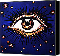 Abstract Stars Digital Art Canvas Prints - Look em in the Eye Canvas Print by Bill Cannon