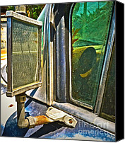 Wing Mirror Canvas Prints - Looking Back ... Canvas Print by Gwyn Newcombe
