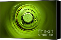 Abstract Photo Canvas Prints - Looking deep into the bottle Canvas Print by Frank Tschakert