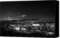 Hill Town Canvas Prints - Looking down from gallows hill over Newry town centre county down northern ireland Canvas Print by Joe Fox