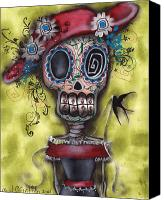 Halloween Painting Canvas Prints - Looking for Love Canvas Print by  Abril Andrade Griffith