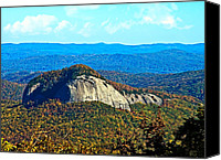 Susan Leggett Canvas Prints - Looking Glass Mountain Blue Ridge Parkway Canvas Print by Susan Leggett