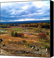 Gettysburg Canvas Prints - Looking Over The Gettysburg Battlefield Canvas Print by Christian David Photography AKA Christian Wilson