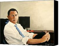 President Obama Canvas Prints - Looking Presidential Canvas Print by Patrick Hunt