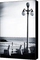 Lamppost Canvas Prints - Looking to the Sea Canvas Print by John Rizzuto