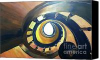 Spiral Staircase Canvas Prints - Looking Up Canvas Print by Debbie Phillips Conejo