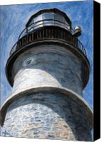 Lighthouse Canvas Prints - Looking Up Portland Head Light Canvas Print by Dominic White